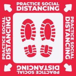Practice Social Distancing Floor Graphic