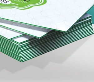 24 pt Trifecta Green Edges Trpile-Layered Ultimate Paper