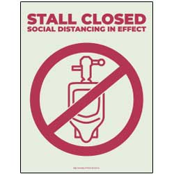 Stall Closed Sign