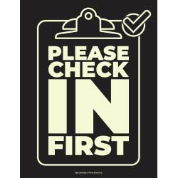 Please Check In (Clipboard) Sign