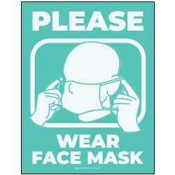 Please Wear Face Mask (Teal)