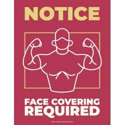 Notice - Face Covering Required (Gym)
