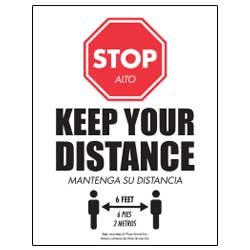 Stop – Keep Your Distance (English/Spanish)
