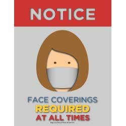 Notice Face Covering Required At All Times