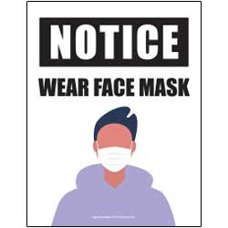 Notice - Wear Face Mask