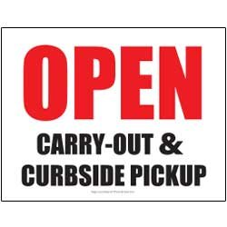 Open – Carry-Out & Curbside Pickup