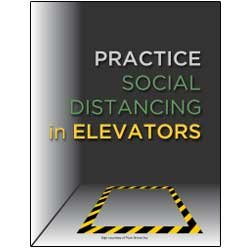 Practice Social Distancing in Elevators