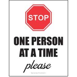Stop - One Person At A Time