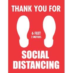 Thank You For Social Distancing (6 feet / 2 meters)